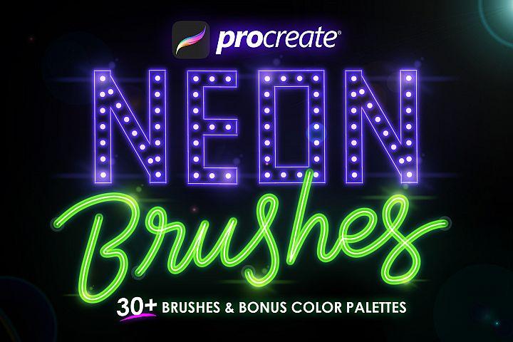 Procreate Neon Brushes
