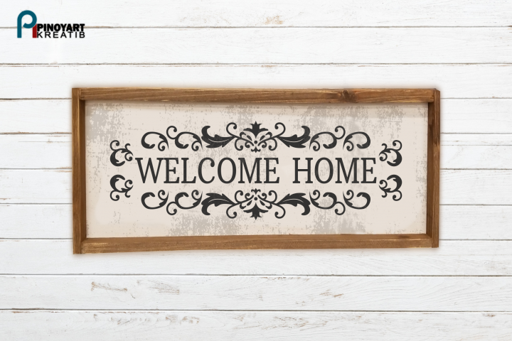 Welcome Home svg - a home vector file