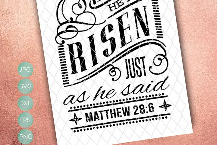 He Has Risen -  Includes SVG, DXF, EPS and PNG