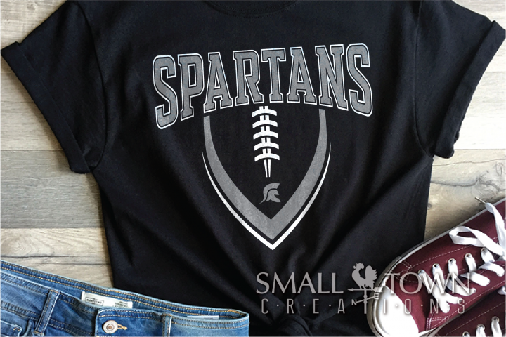 Spartan, Football, Team, Sport, Logo, PRINT, CUT & DESIGN