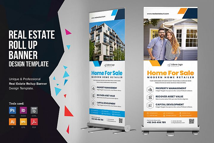 Real Estate Roll up Banner Signage v2