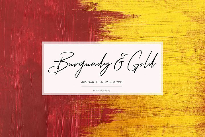 Burgundy & Gold Abstract Grunge Backgrounds, Wedding Paper