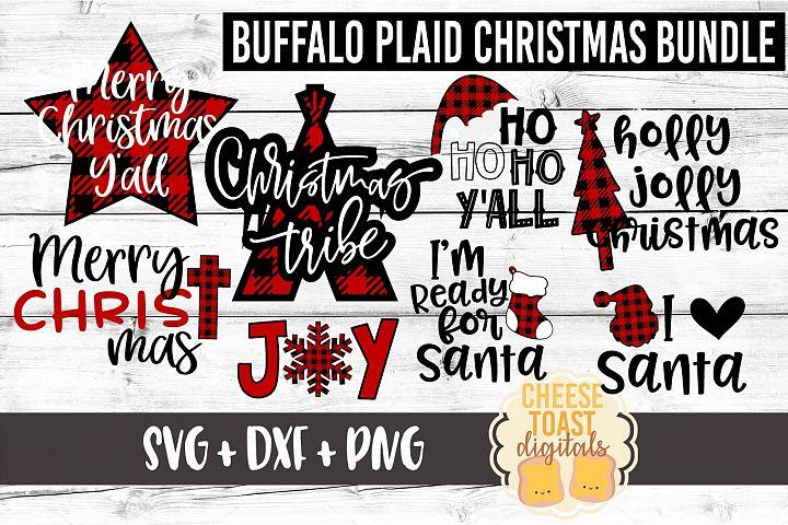 Buffalo Plaid Christmas Bundle - Christmas SVG Files