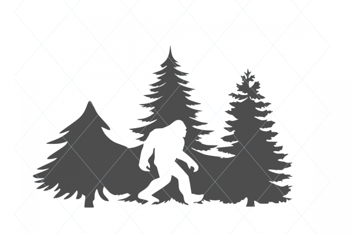 Christmas svg, holidays svg, Christmas tree svg, bigfoot svg