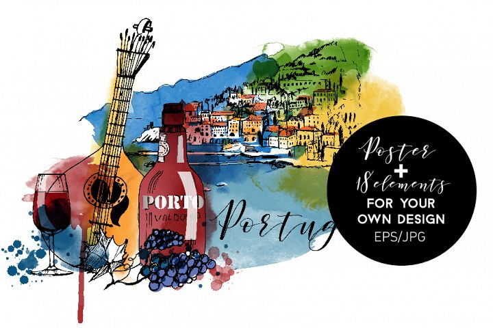 Portugal. Vector poster