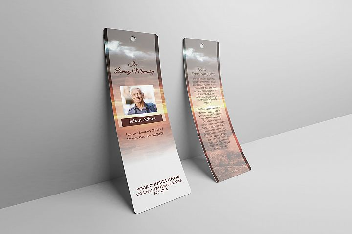 Funeral Bookmark Template