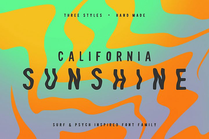 California Sunshine Typeface
