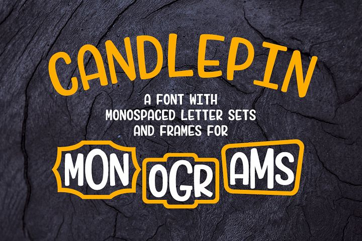 Candlepin - make fun monograms!