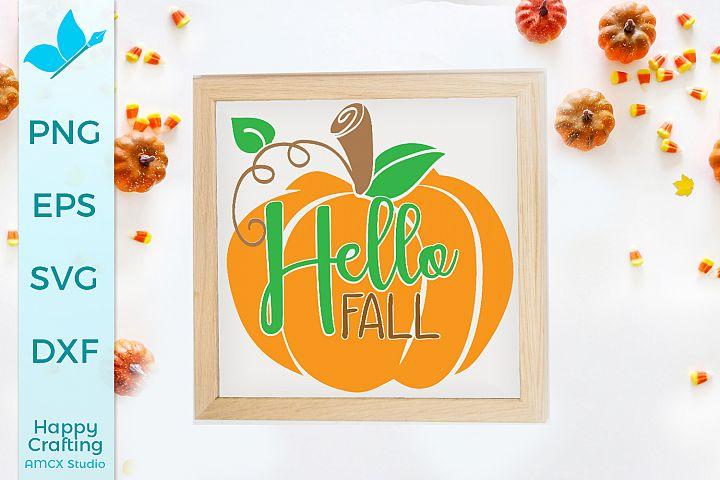 Hello Fall - A Cozy Fall Cut File