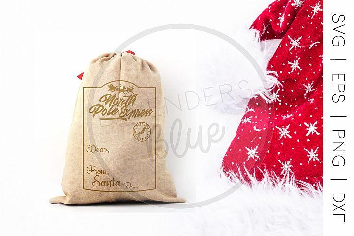 Christmas SVG | Santa Sack Template | North Pole