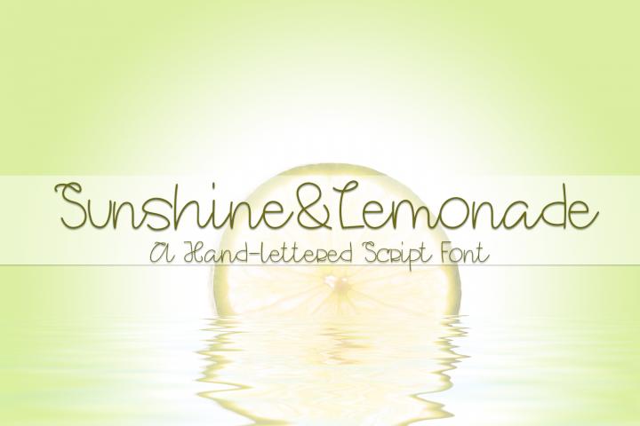 Sunshine&Lemonade - A Hand-Lettered Script Font