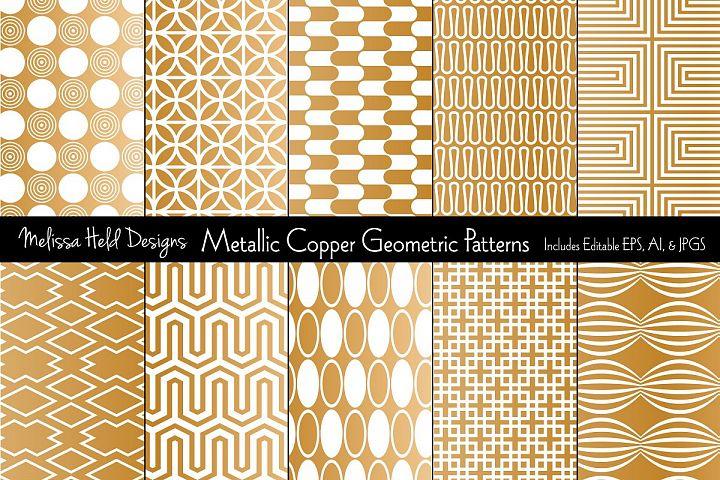 Metallic Copper Geometric Patterns