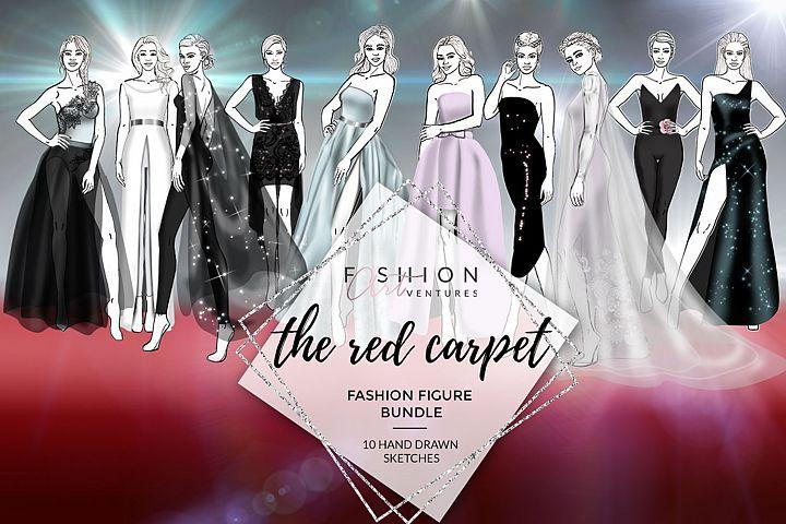 Red Carpet Bundle- fashion croquis