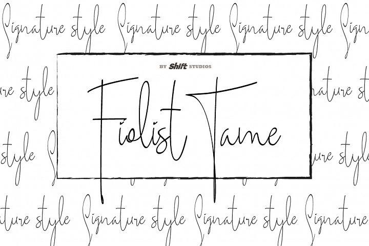 Fiolist Tame Typeface