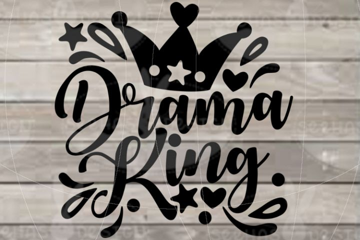 File Drama King for Cutting Lasercut Print SVG PDF EPS