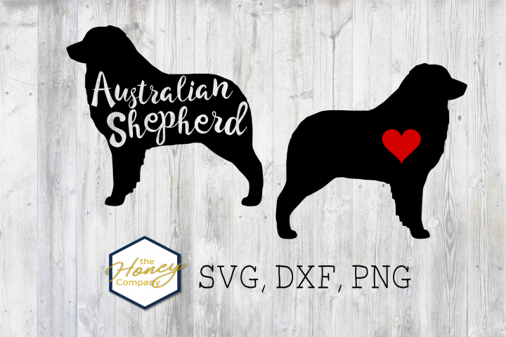 Australian Shepherd SVG DXF PNG Cutting File Dog Lover