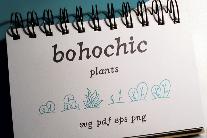 100 Boho-Chic Plants Vectors