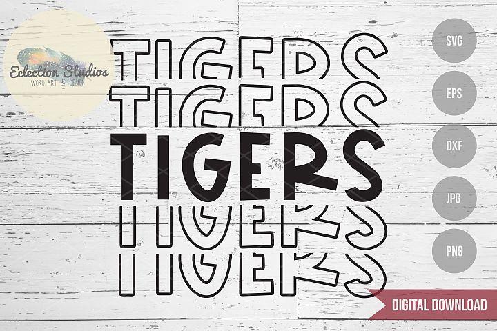 Tigers SVG, Sports Team Mascot Name, School Pride SVG