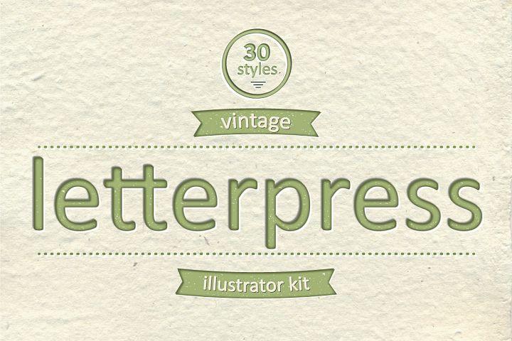 Vintage Letterpress Illustrator Kit