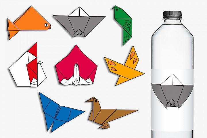 Origami animals clip art illustrations