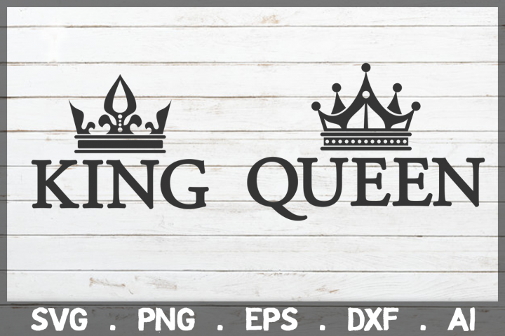 SALE! King & Queen svg, wedding svg, engagement svg
