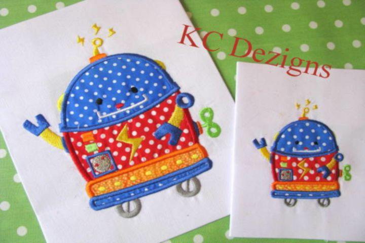 Robot Carpet Cleaner Machine Applique Embroidery Design