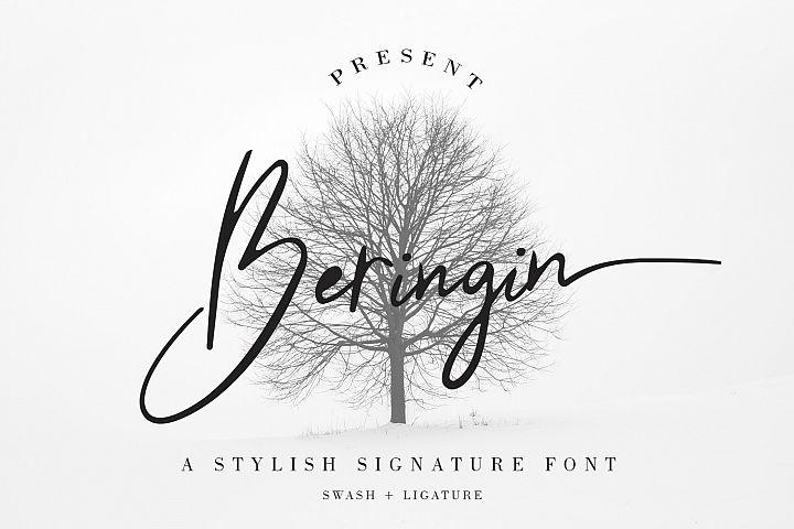 Beringin Stylish Signature Font
