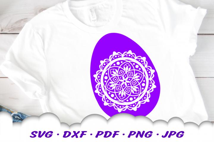 Mandala Easter Egg SVG DXF Cut Files