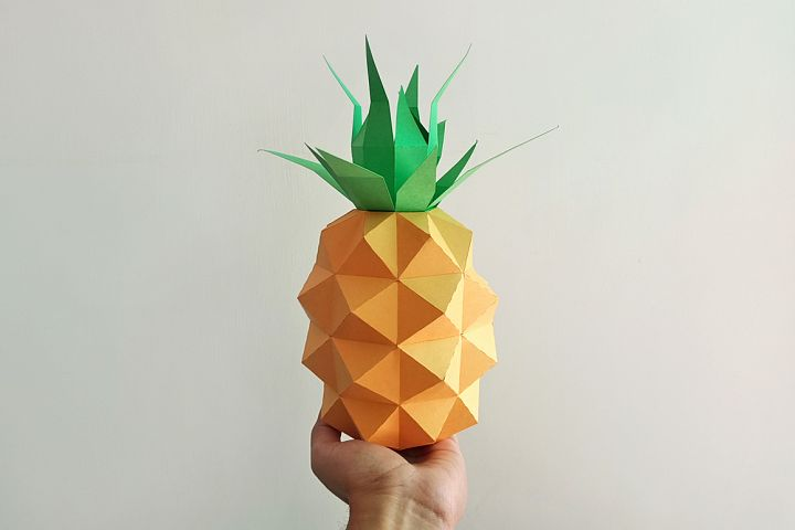 DIY Papercraft Pineapple,Papercraft fruit,Paper toy,svg file