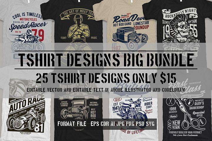 25 Premium Tshirt Designs Big Bundle 3