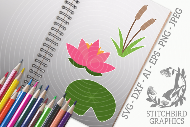 Pond Bundle SVG, Silhouette Studio, Cricut, Eps, JPEG, PNG