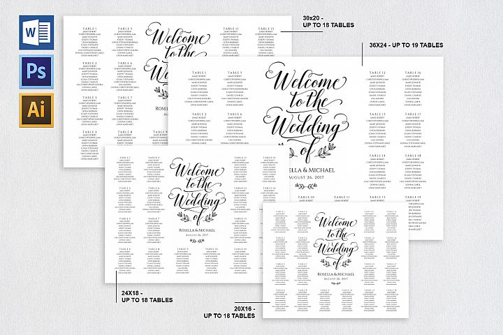 wedding seating chart sign, TOS_12