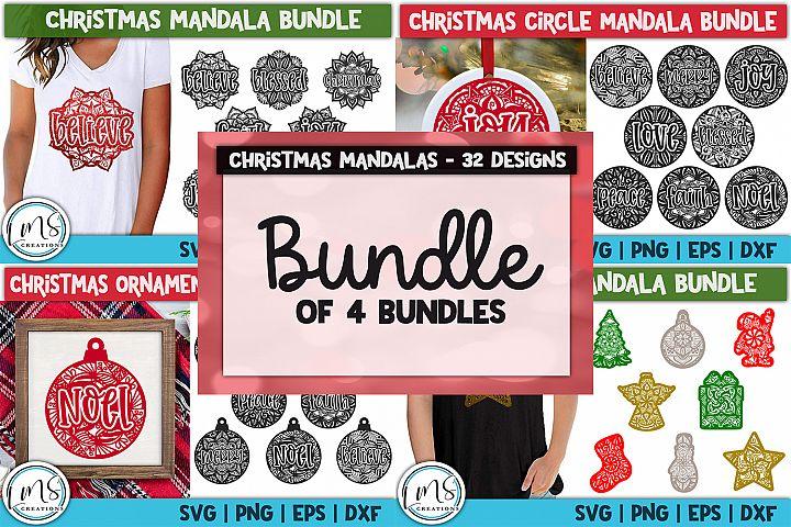 Christmas Mandala Bundle of Bundles SVG, PNG, EPS, DXF