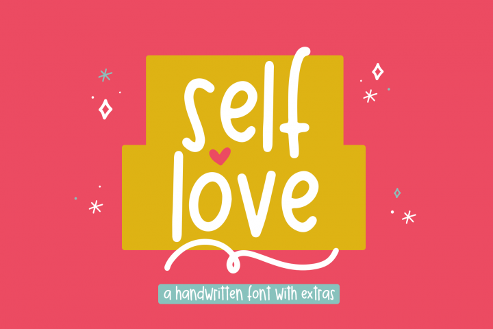 Self Love - A Fun Font with Doodles!
