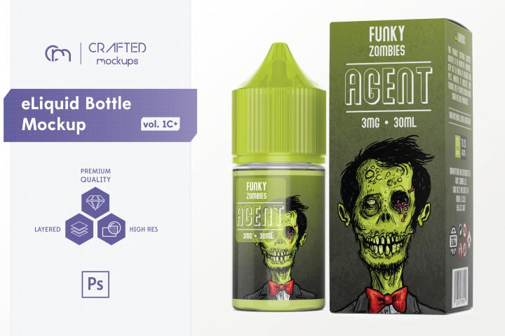 eLiquid Bottle Mockup v. 1C Plus