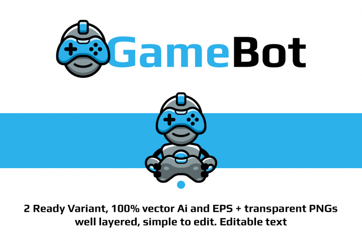 GameBot Logo Design