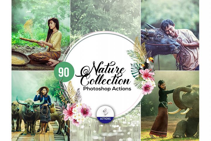 90 Nature Collections Photoshop Actions Vol2