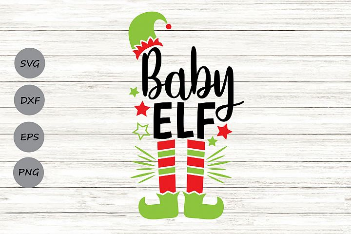 Baby Elf Svg, Christmas Svg, Elf Svg, Baby Svg, Elf Hat Svg.