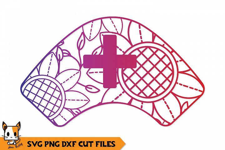 Nurse Hat Mandala - Nursing Zentangle SVG PNG DXF Cut Files
