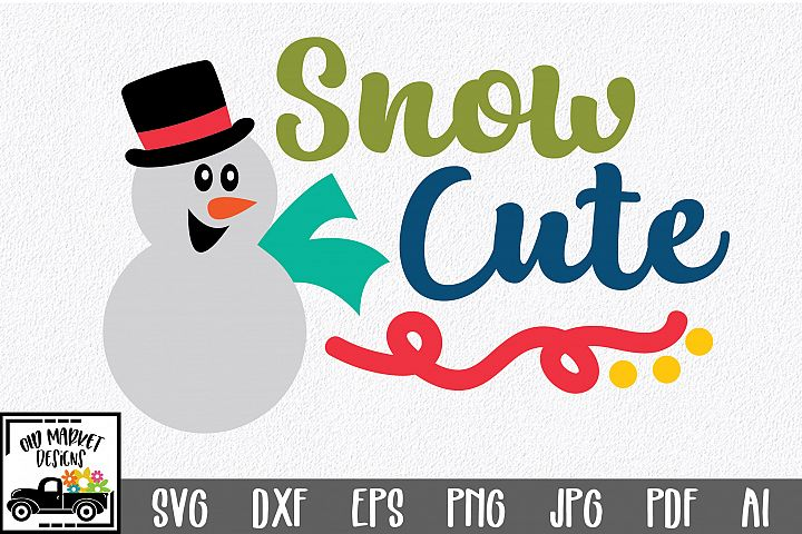 Christmas SVG Cut File - Snow Cute SVG DXF EPS PNG JPG PDF
