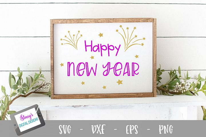 New Year SVG - Happy New Year cut file