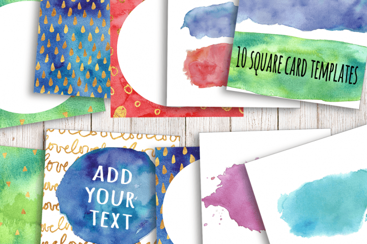 Watercolor Textures - card edition - Free Design of The Week Design 15