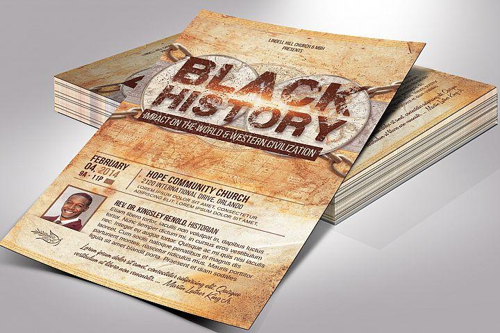 Black History Flyer Photoshop Template