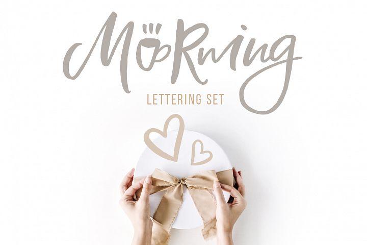 Morning Lettering set