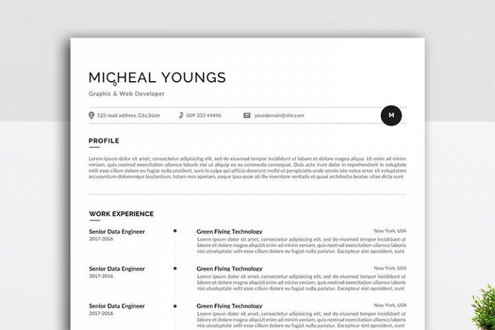 Minimal and Professional resume