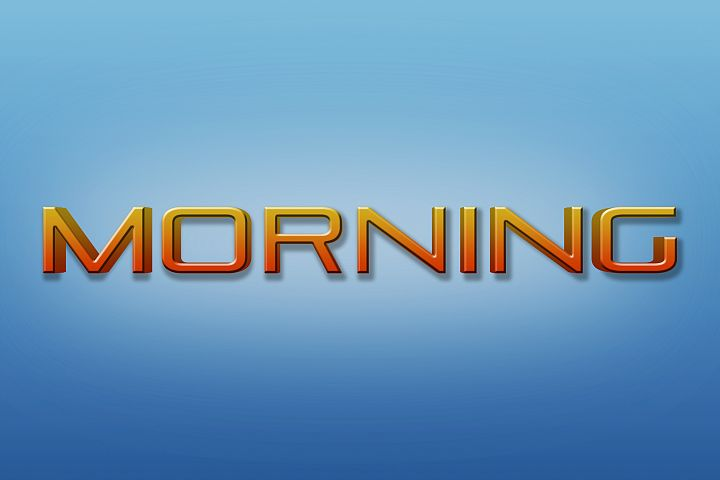 Morning Editable Photoshop Text Style Effect
