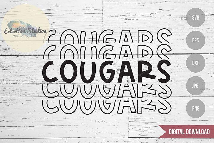Cougars SVG, Sports Team Mascot Name, School Pride SVG