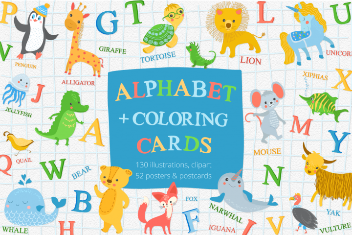 Alphabet Zoo Illustration Set