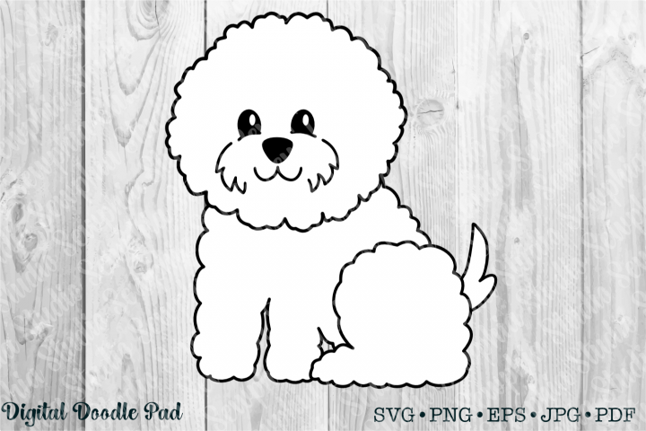 Cute Bichon 02 by Digital Doodle Pad