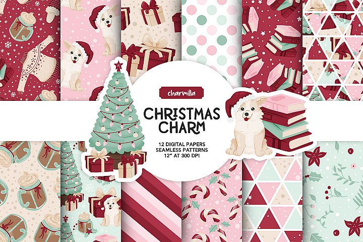 Cozy Christmas Digital Papers